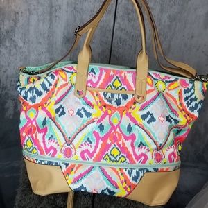 stella&dot Ikat Getaway Bag EUC Retired!